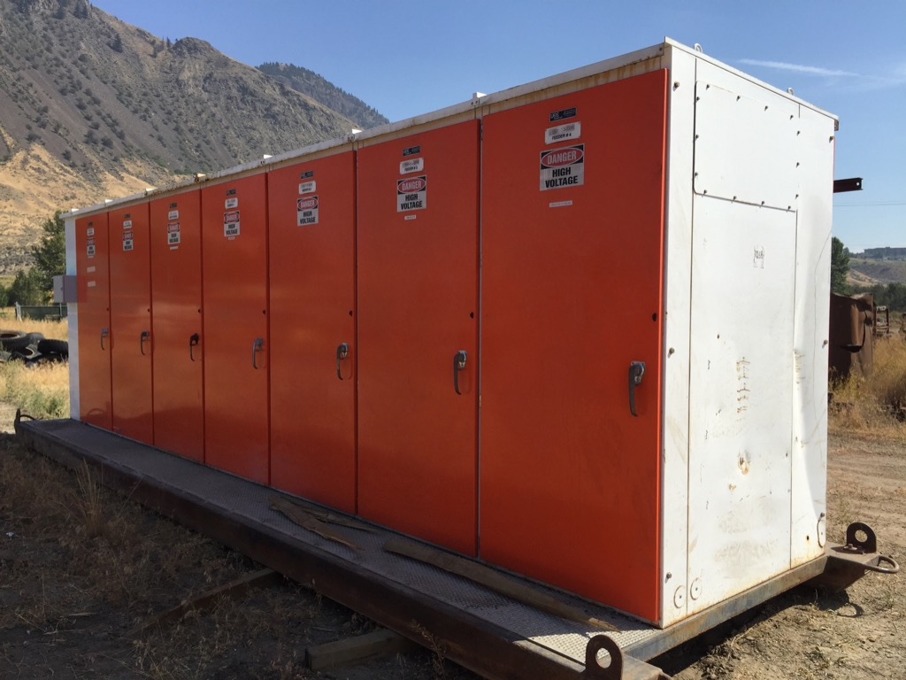 7 section 15 kV Metalclad Switchgear Units - Skid mounted - Mine